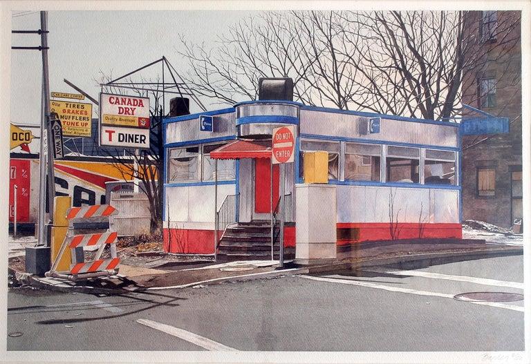 John Baeder Landscape Painting - Diner , O.K. Harris Gallery   SoHo
