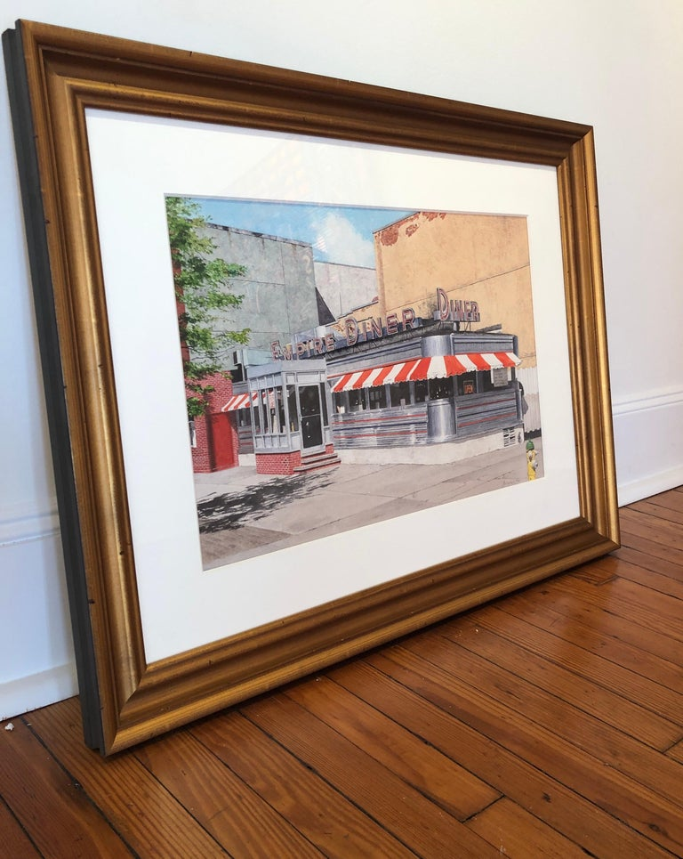 Empire Diner - Painting by John Baeder