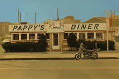 "John Baeder ""Pappy's Diner"" Signed Limited Edition Screen Print"