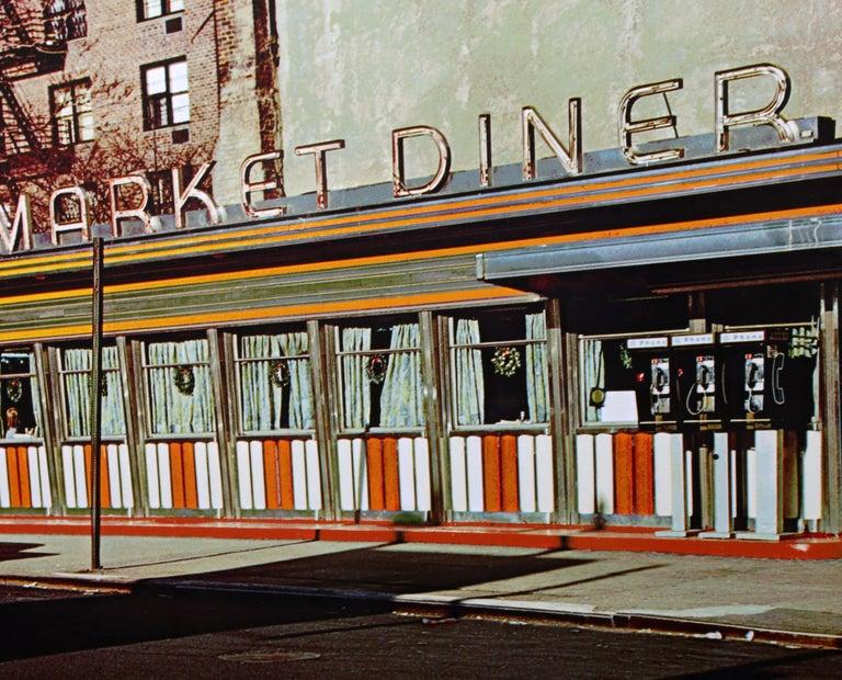 Market Diner, Photorealist Silkscreen by John Baeder For Sale 1