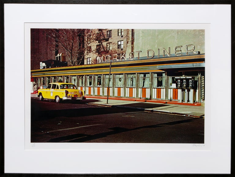 Artist: John Baeder, American (1938 - ) Title: Market Diner Year: 1981 Medium: Serigraph on Somerset Paper, signed and numbered in pencil Edition: 81/250 Image: 16.5 x 25 inches Size: 22 x 30 in. (55.88 x 76.2 cm) Frame: 26 x 33.5 inches