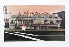 Red Robin Diner, Photorealist Silkscreen by John Baeder