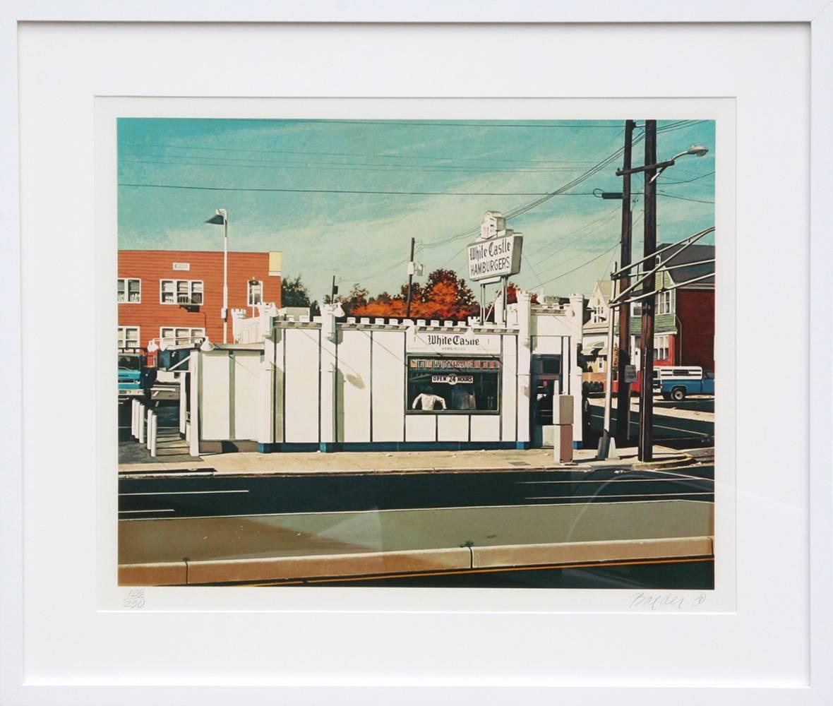 White Castle, Photorealist Silkscreen by John Baeder