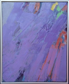 British Abstract - Abstract Expressionist 1979 art colour field oil painting