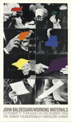 1992 After John Baldessari 'Working Materials' Pop Art USA Offset Lithograph