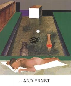 """John Baldessari-Double Bill (Part 2)...And Ernst-24.5"""" x 20.5""""-Poster-2012-Pop"""