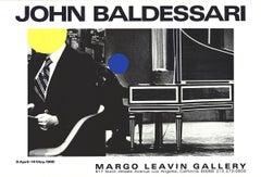 """John Baldessari-Margo Leavin Gallery-27"""" x 40""""-Poster-1988-Pop Art-Black & White"""