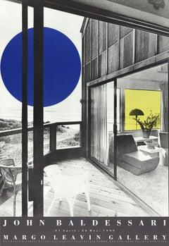 "John Baldessari-Margo Leavin Gallery-38.5"" x 26.25""-Poster-1990-Pop Art-Gray"