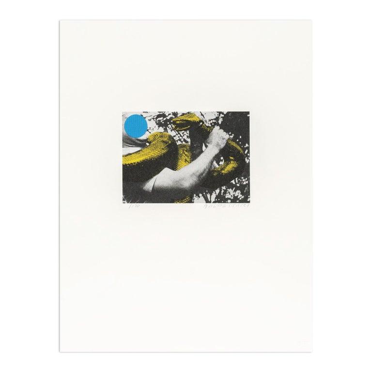 John Baldessari Abstract Print - Man With Snake, Contemporary Art, Conceptual Art, 20th Century