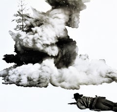 Smoke, Tree, Shadow, and Person // Collage // Conceptual Art // American Art