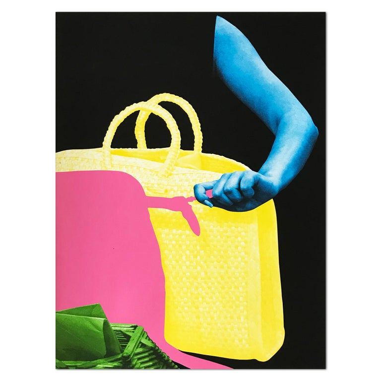 John Baldessari Figurative Print - Two Bags and Envelope Holder, Contemporary Art, Concept Art, Collage