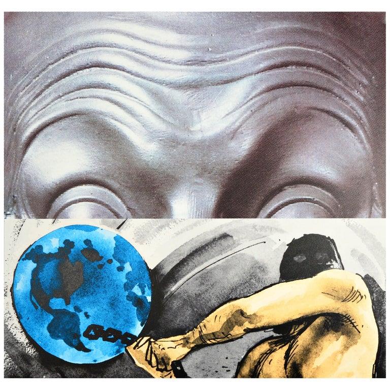 John Baldessari 'Raised Eyebrows/Furrowed Foreheads/Figure with Globe', 2009 For Sale