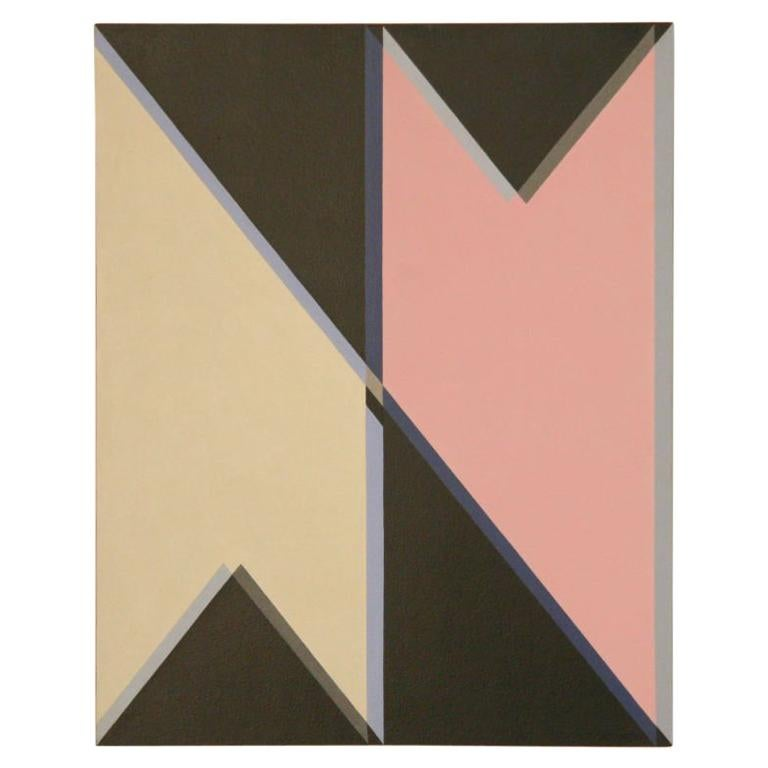 John Barbour Hard Edge Painting, 1966 For Sale