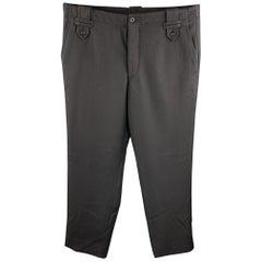 JOHN BARRITT Size 36 Black Wool Button Fly Dress Pants