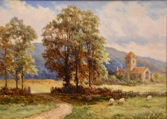 "Oil Painting by John Bates Noel ""A Rural Landscape"""