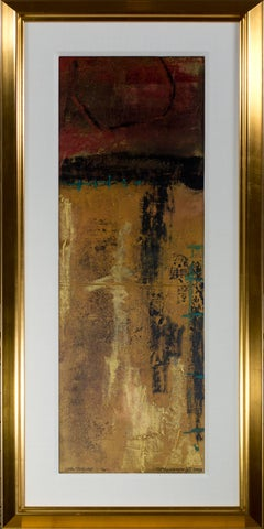 """Cartouche 1-16"" original mixed media painting signed by John Baughman"