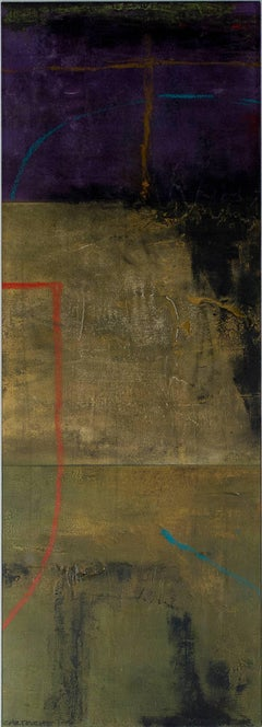 """""""Cartouche 1-3,"""" Mixed Media Abstract Painting signed by John Baughman"""