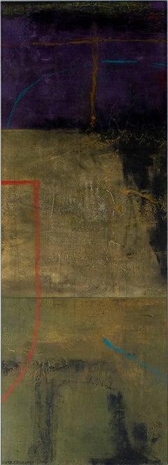 """Cartouche 1-3,"" mixed media painting by John Baughman"