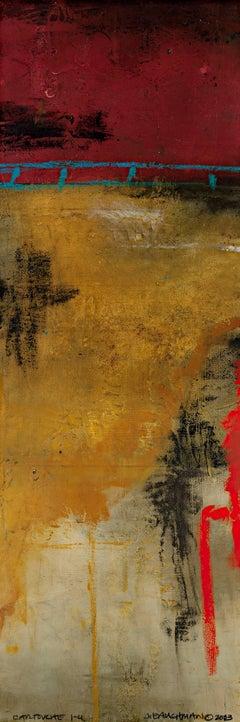 """Cartouche 1-4,"" Original Mixed Media Painting signed by John Baughman"