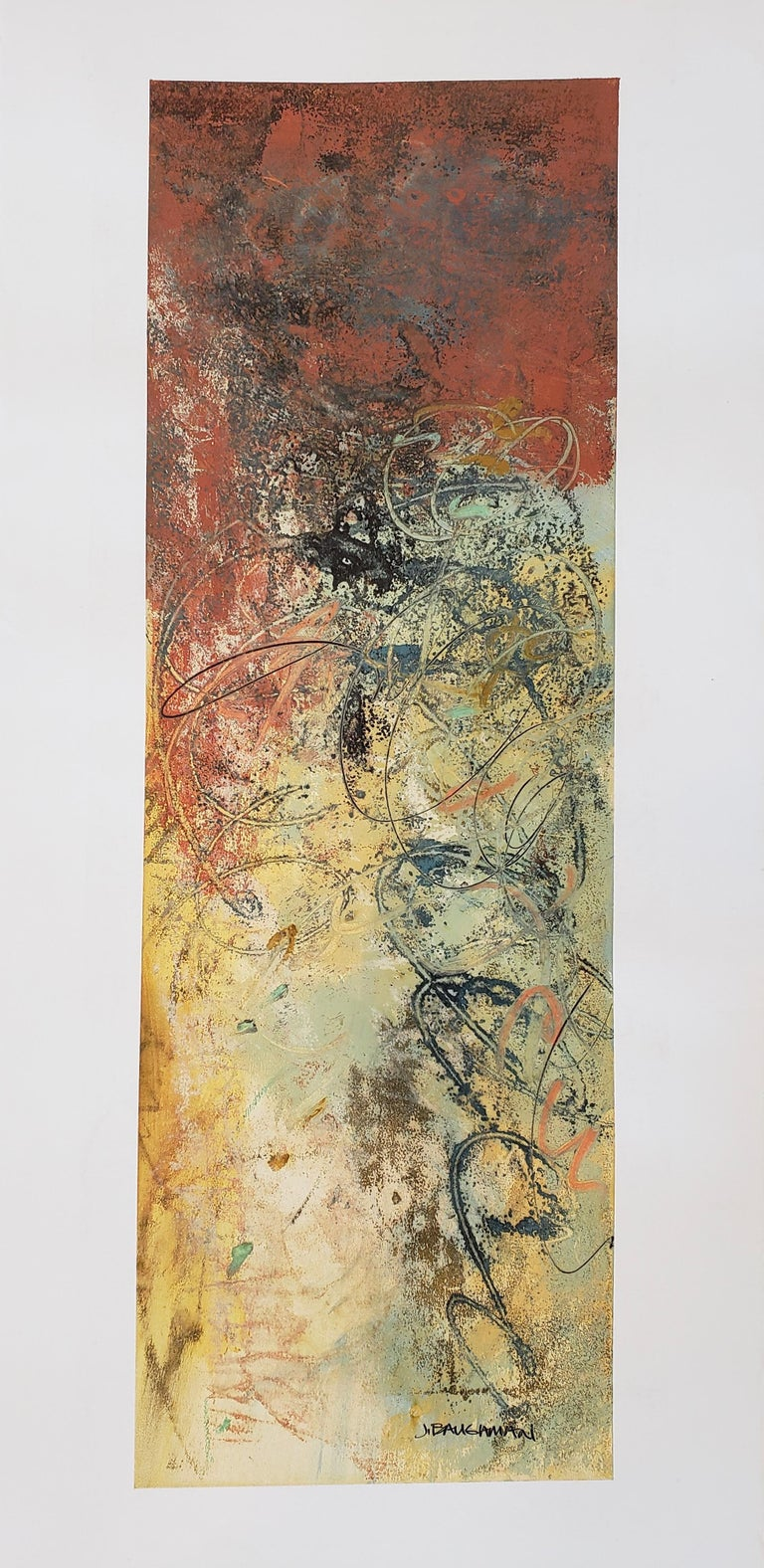 John Baughman Abstract Painting on Paper