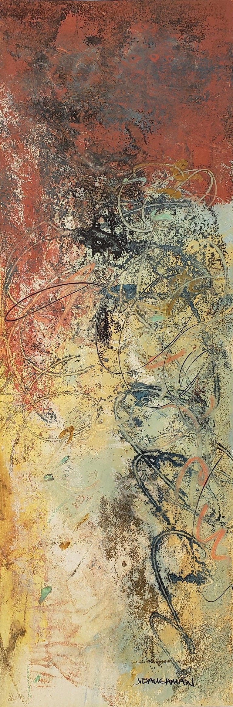 Baughman has developed a unique approach to painting, revealing generous dimensions and thoughtful textures. His deep layering of paints, oils, crayons and gold leafing create forms and planes expressive of the finest in contemporary design.