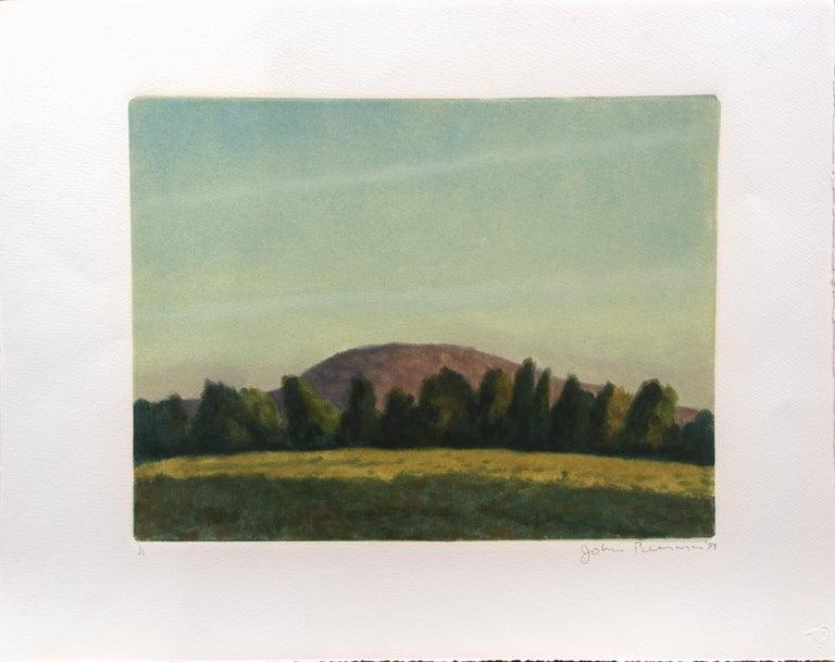 John Beerman Landscape Print - Landscape with Hill