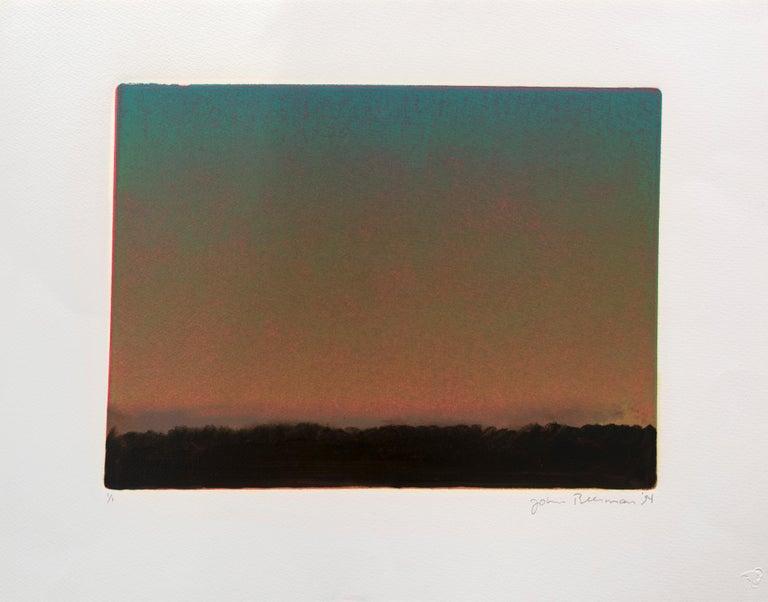 John Beerman Landscape Print - Landscape with Sunset I