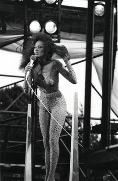 Diana Ross Performing in Central Park Vintage Original Photograph