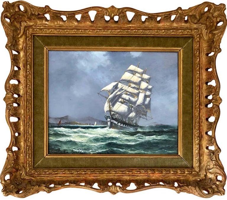John Bentham-Dinsdale Landscape Painting - Clipper at Full Sail