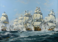 The Battle of Trafalgar, 21st October 1805, Victory Cuts the Line