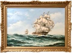 The Pursuit, Man-O-War Ship at High Seas