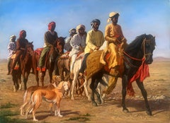 """""""All the Kinds Horses"""", John Berry, Oil on Canvas, 30x40 in., Horses and Dogs"""