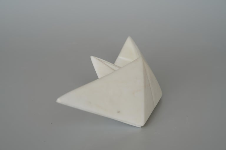 Paper boat - Contemporary Sculpture by John Bizas