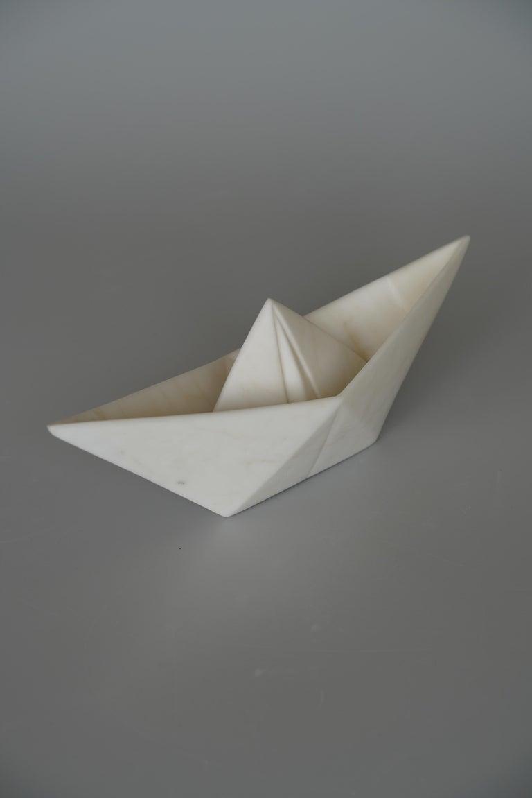 John Bizas Figurative Sculpture - Paper boat