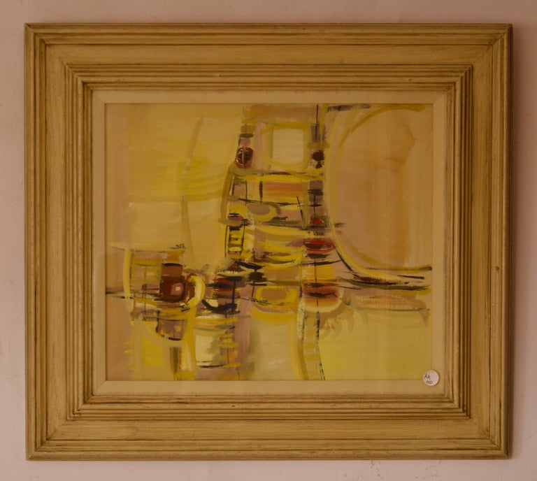 Abstract Rush Hour - Mid 20th Century Abstract Piece by John Bolam For Sale 1