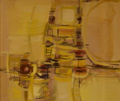 Abstract Rush Hour - Mid 20th Century Abstract Piece by John Bolam