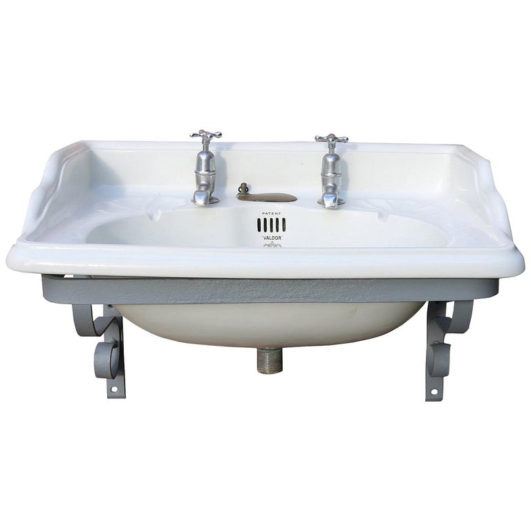 John Bolding Wall Mounted Basin with Iron Bracket For Sale ...