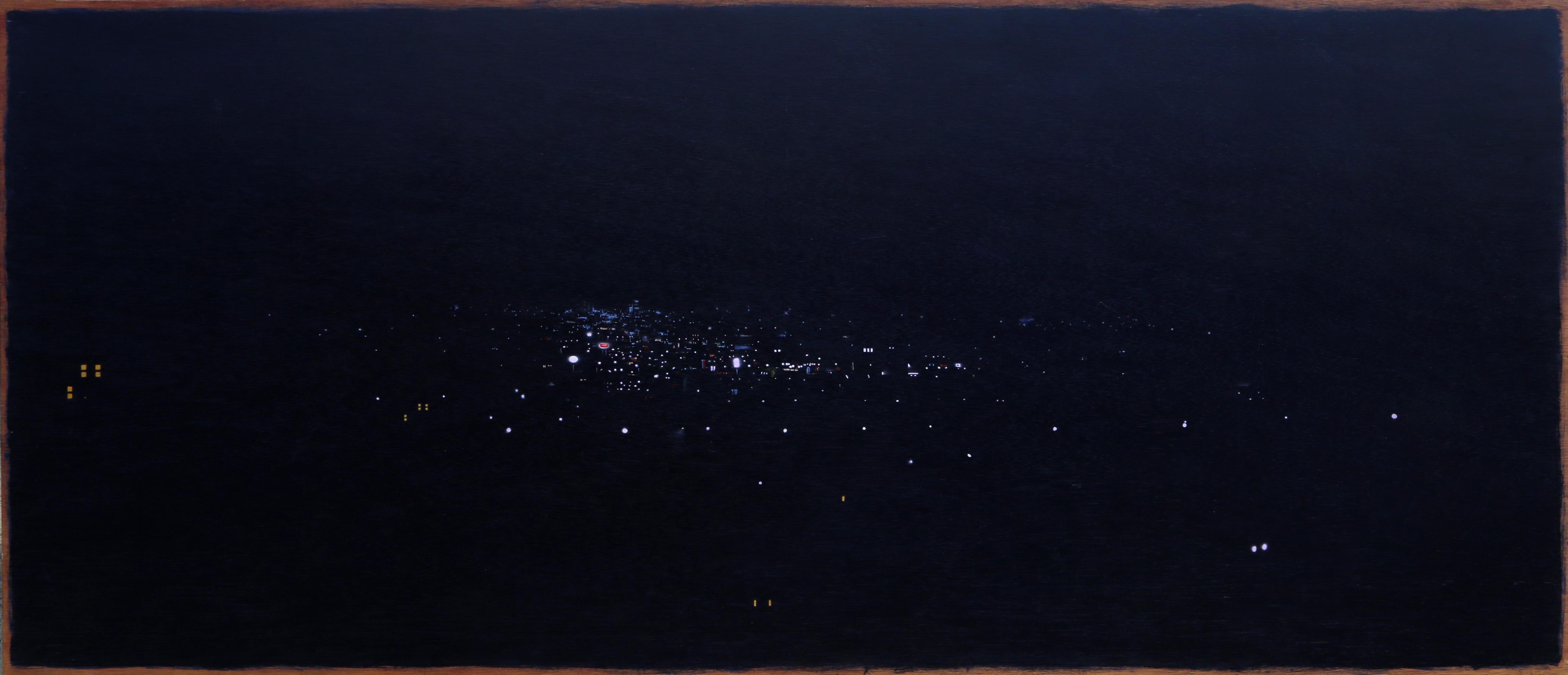 Babylon, Large City at Night Painting by John Bowman