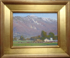 California Landscape Oil Painting by John Budicin San Bernardino Mountains Farm