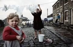 Woman and Child with Washing Line, Halifax, 1965 - John Bulmer (Photography)