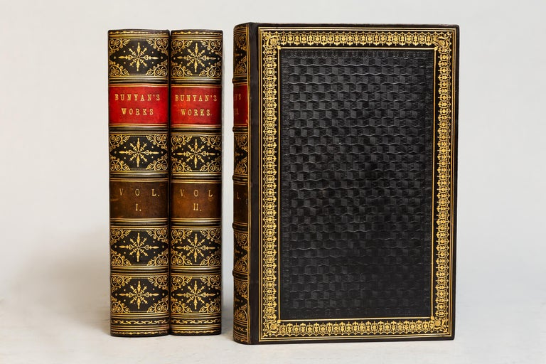 3 volumes  Edited by George Offer, Esq. Bound in full blue Calf, all edges gilt, raised bands, ornate gilt on covers and spines. Profusely illustrated with steel engravings.  Published: Edinburgh: Blackie & Son. N.D, circa 1890s.