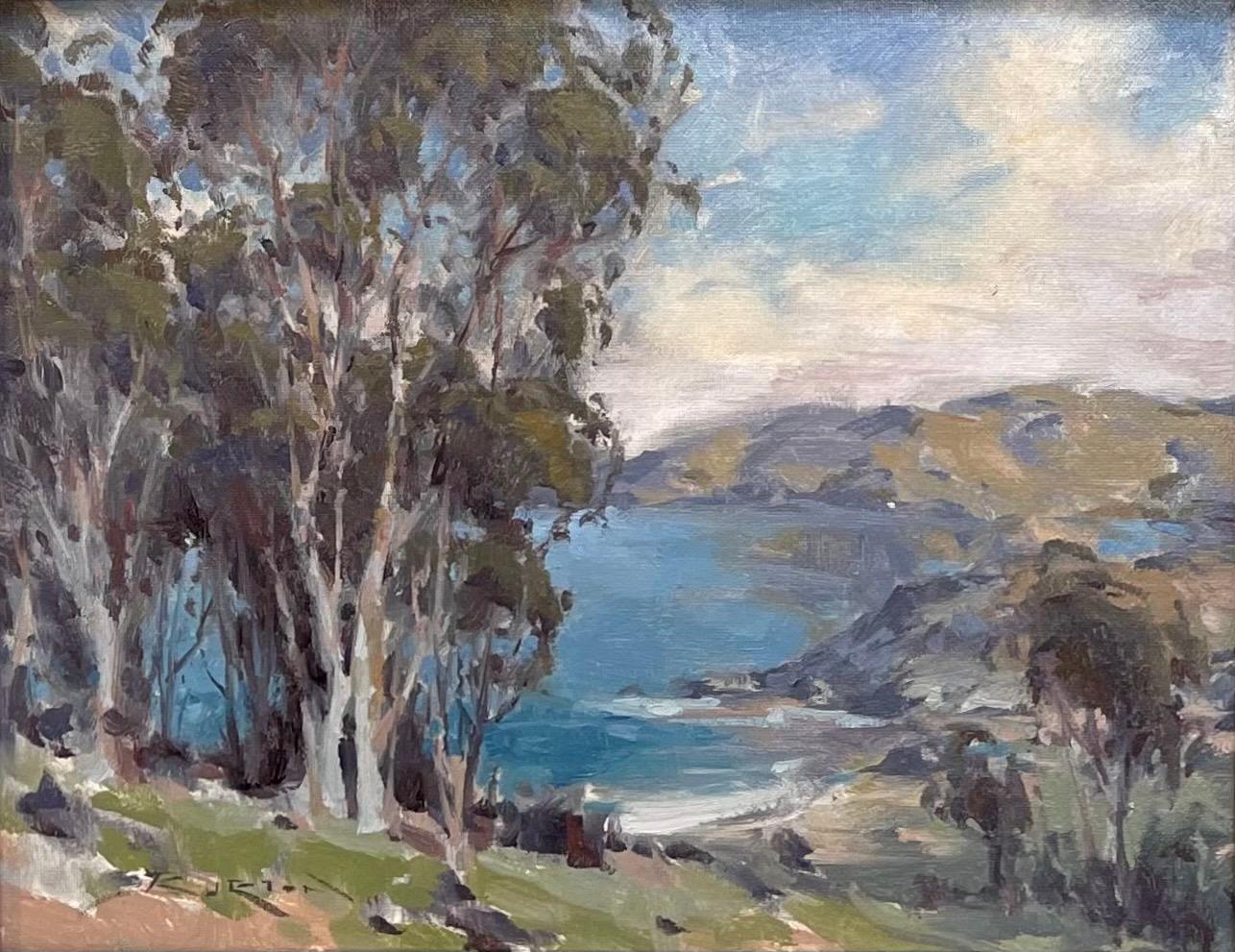 """Shark Harbor,"" Oil Painting"