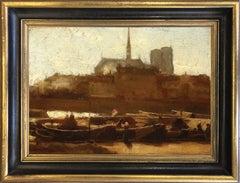 John Buxton Knight (1843-1908) Sainte-Chapelle and Notre Dame, Paris