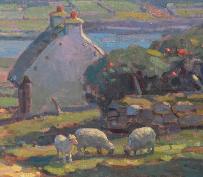 'County Kerry, Ireland', large transitional contemporary landscape painting - Painting by John C. Traynor