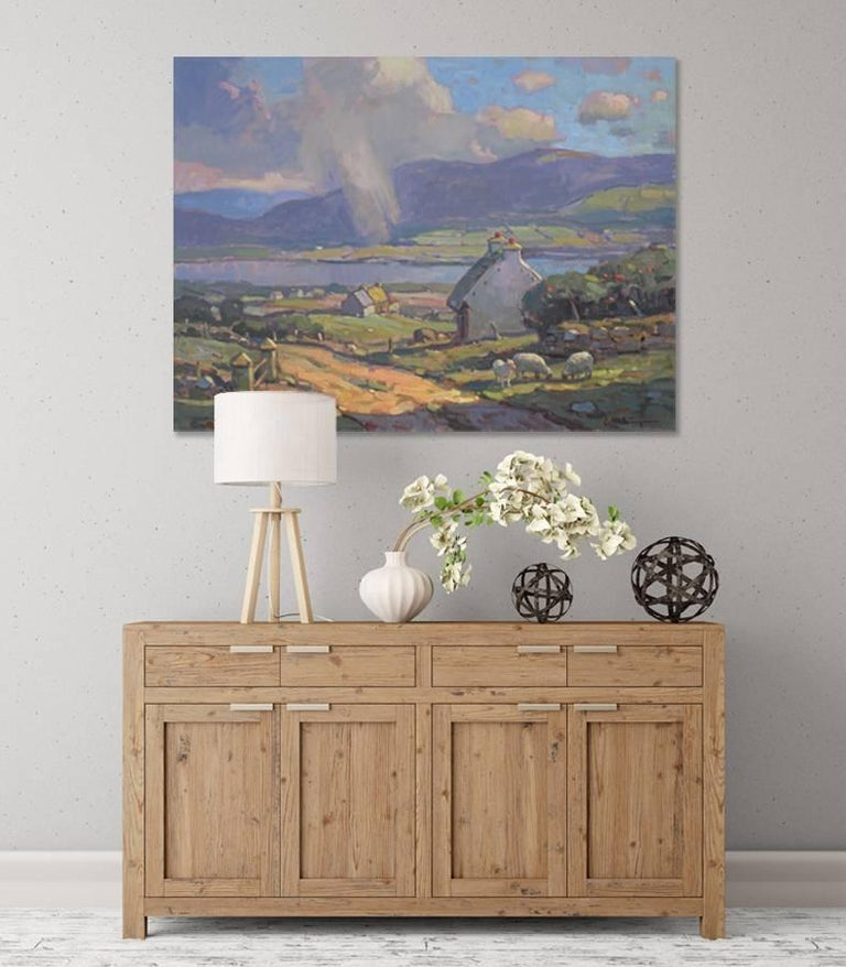 'County Kerry, Ireland', large transitional contemporary landscape painting For Sale 1