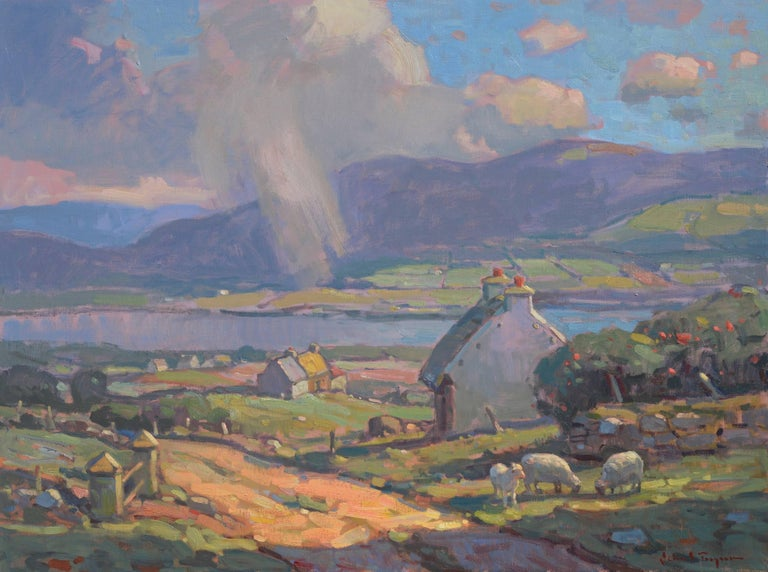 John C. Traynor Landscape Painting - 'County Kerry, Ireland', large transitional contemporary landscape painting
