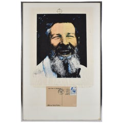 John Cage Mixed Media 1974 Print Collage