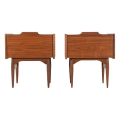 John Caldwell Walnut Nightstands for Brown & Saltman