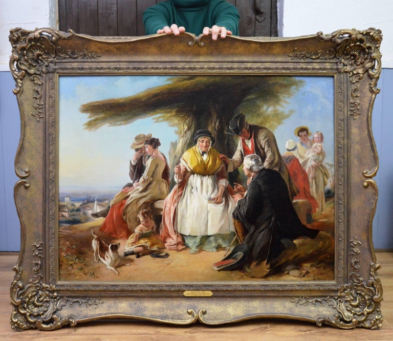 Youth & Age - 19th Century Oil Painting - Royal Academy 1851 - Victorian - Brown Figurative Painting by John Callcott Horsley
