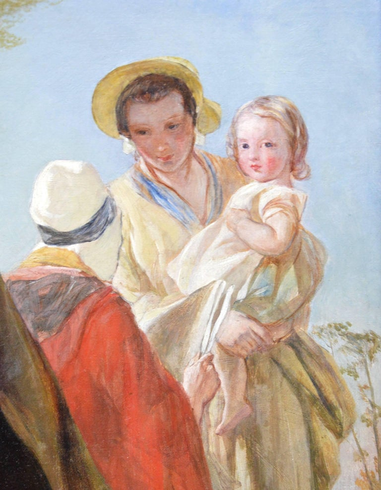 Youth & Age - 19th Century Oil Painting - Royal Academy 1851 - Victorian For Sale 4